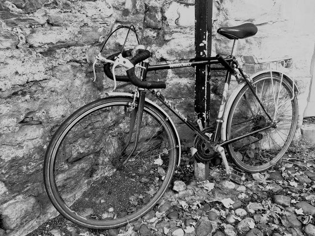 Durham England Oldbike Oldlook Cobbles Blackandwhite Pushbike