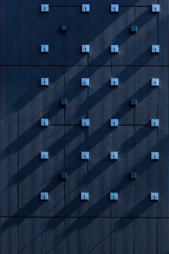 Convoy of Shadow Convoy  Cool Geometric Shapes The Architect - 2018 EyeEm Awards Wall Architecture Backgrounds Blue Geometric Shape Geometry In A Row Modern No People Pattern Protection Repetition Urban