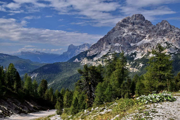 Connected By Travel Lago Di Misurina Beauty In Nature Cloud - Sky Italy Misurina Mountain Mountain Range Nature No People Outdoors Peak Scenics Sky Tranquility Tree