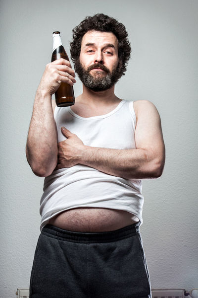 Funny Series of a Bearded Slob of a man, with beer belly and Bottle :) Beer Fed Up FedUp Funny Humor Man Tanktop Adult Alcholic  Alcohol Beard Bearded Beer Belly Deplorable Holding Lazy One Person People Portrait Slob Tank Top Tired