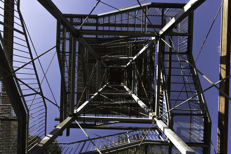 Kreuzbergwarte in Südoststeiermark / Weinebene Built Structure Architecture Low Angle View Metal Connection No People Bridge Bridge - Man Made Structure Day Pattern Sky Transportation Nature Outdoors Architectural Feature Building Exterior Steel Industry Grid Alloy Complexity Girder Directly Below