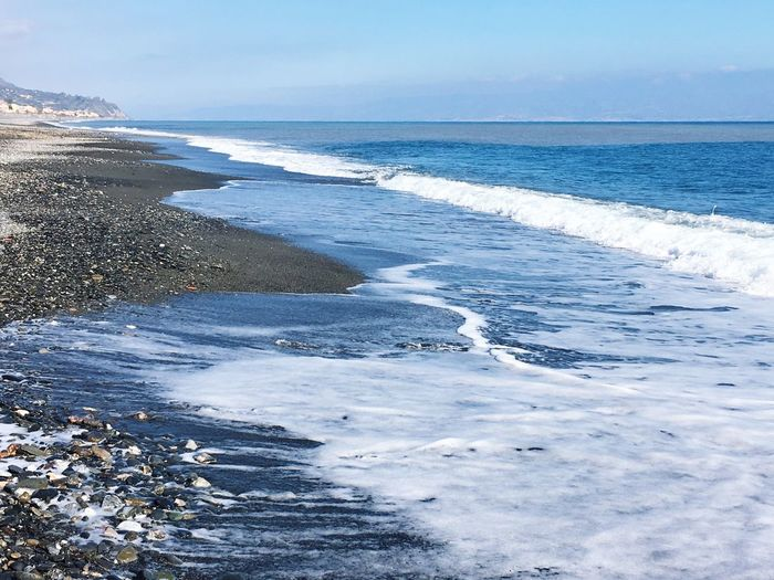 Sea Water Horizon Over Water Nature Wave Surf Beauty In Nature Beach Scenics Shore Sky Outdoors Day Tranquility No People Clear Sky Miles Away Beachphotography Beach Photography Waves Waves And Rocks Sea And Sky Peace And Quiet Love The Sea Uniqueness Been There.