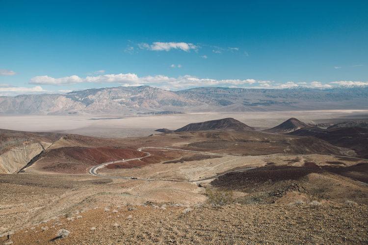 Arid Climate Arid Landscape Blue Sky Death Valley Death Valley National Park Desert Landscape Mountains Nature Roadtrip