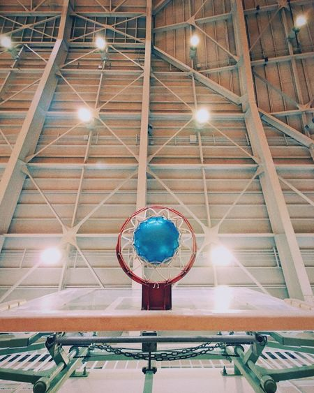 Indoors  Low Angle View No People Built Structure Architecture Day Basketball Ball Sport Gymnastics Holiday Be. Ready. The Graphic City Colour Your Horizn Go Higher Summer Exploratorium