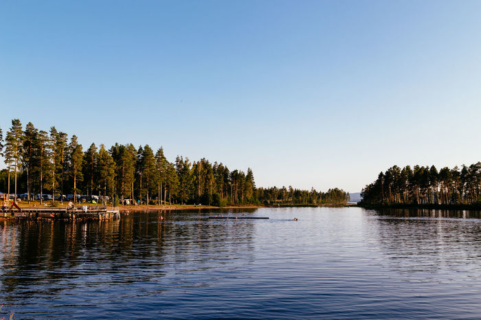 Lake Siljan, Sweden Clear Sky Dalarna Day Forest Lake Natural Parkland Nature Nautical Vessel No People Outdoors Pedal Boat Scenics Siljan Sky Summer Sweden Swedish Swedish Nature Tourism Tranquility Travel Destinations Tree Tällberg Vacations Water