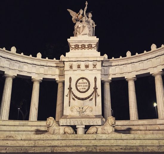 Architecture Art And Craft Culture History Leyend Mexico City Night Sky Statue Travel Destinations