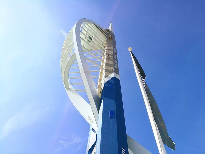 EyeEm Selects Spinnaker Tower!!! Low Angle View Outdoors No People Sky Day Architecture Travel Destinations Beach Scenics England Portsmouth Historic Dockyard Portsmouth UK Uk Southsea UK Portsmouthphotographer Summer Blue Golf Club Colour Your Horizn