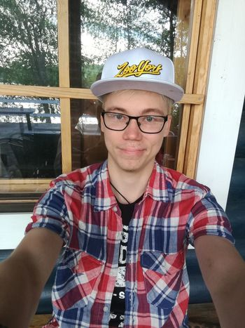 Me at friend's summer cottage saturday 😊 Eyeglasses  Front View Young Adult One Person Portrait Looking At Camera Day People One Man Only Only Men Adult Adults Only Outdoors Selfie Selfportrait Photography Selfienation Snapback Fitness Fashion Trend Summer Weekend Finnishboy Outdoor