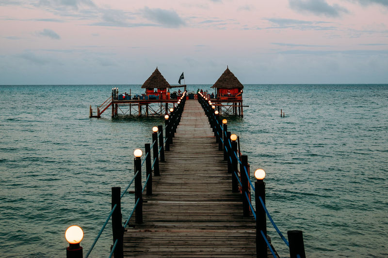 Water The Way Forward No People Idyllic Pier Sea Horizon Over Water Outdoors Tranquility
