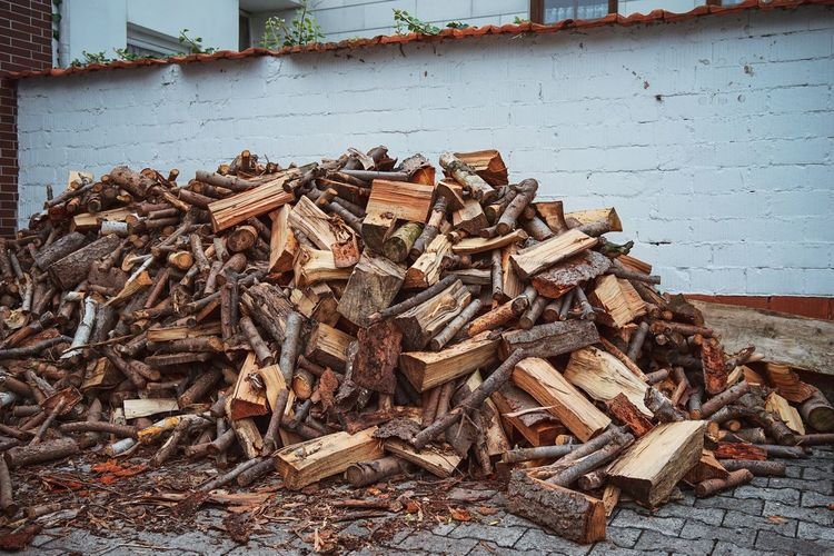 Brennholz Heizen Holz Gespaltet Kaminholz Abundance Brick Chopped Day Deforestation Environmental Issues Firewood Fossil Fuel Heap Large Group Of Objects Log Lumber Industry Nature No People Outdoors Stack Timber Wall - Building Feature Wood Wood - Material Woodpile