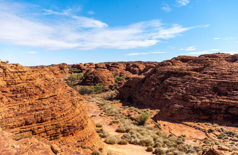 Rock formations in australian desert