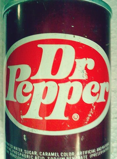 Dr. Pepper 1970s... Dr Pepper Beverage 1970s Soda Vintage Refresco Pop Sodapop Popporn Can