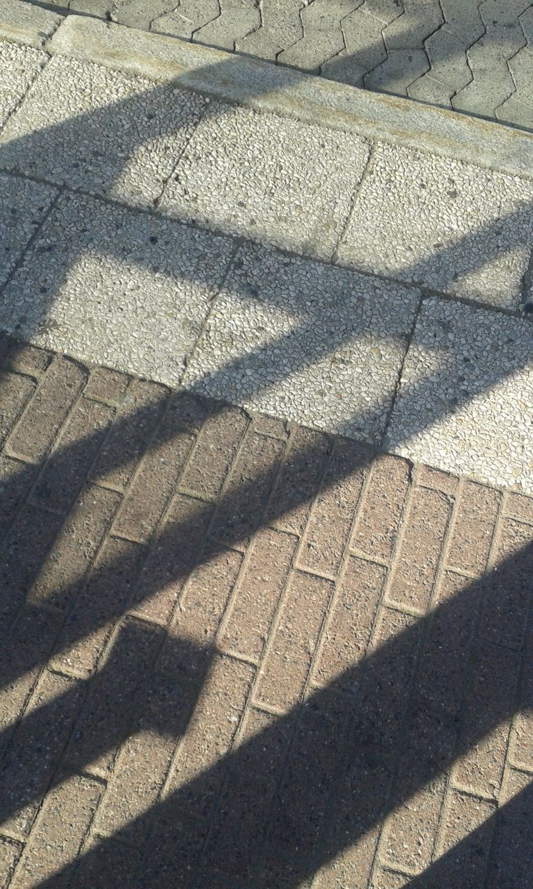 shadow, sunlight, focus on shadow, day, high angle view, outdoors, no people, nature