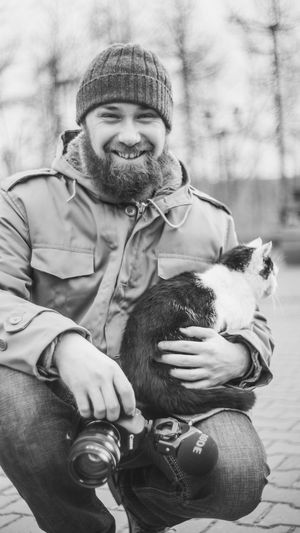 I was geting some b roll when a cat appeared on my knees :-) Relaxing Working Hard Work Kitty Kitten Cat Cat Lovers Beard Cat♡ Cats