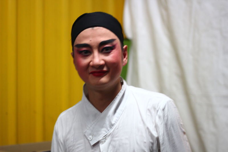 back-stage at a Chinese opera troupe from mainland china performing in singapore Artiste Backstage Chinese-opera Close-up Face Face-paint Famous Handsome Headshot Lifestyles Make-up Makeup Portrait Transformation