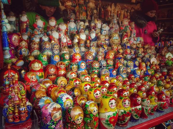 Multi Colored For Sale Variation No People Large Group Of Objects Full Frame Choice Close-up Indoors  Backgrounds Day Moscow Redsquare Matryoshka