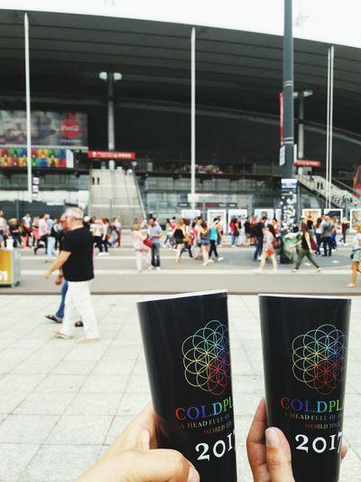 Real People People City EyeEm EyeEmBestPics Eye4photography  France EyeEm Best Shots Paris Stade De France Coldplay Coldplay Concert  COLDPLAY ♥