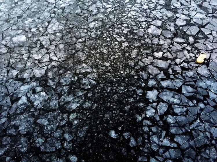 ice shards | Ice Ulvsunda Solna Bromma Bridge Winter