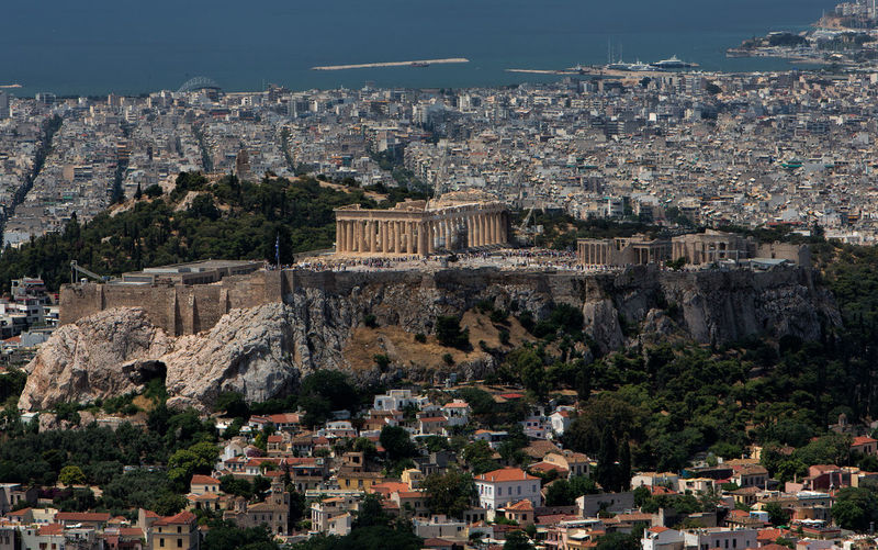 Cityscape of Athens. Acropolis Of Athens Akropolis Athens Greece Athens, Greece Greece Photos Ancient Ancient Civilization Architecture Athens Building Building Exterior Built Structure Capital Cities  City Cityscape Day Greece High Angle View History Nature No People Outdoors Plant Residential District The Past Town Travel Destinations Tree