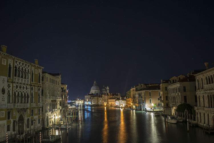 Architecture Blue Building Built Structure Canal Cities At Night City Dark Illuminated Italy Nature Night Church Santa Maria Residential Building Sky Town Travel Destinations Venezia Venice Water Gran Canal Stars The Architect - 2016 EyeEm Awards Salute Neighborhood Map Your Ticket To Europe