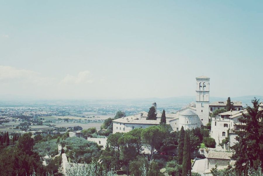 Architecture Building Exterior City Sky Tree Built Structure Travel Destinations No People Outdoors Dome Cityscape Place Of Worship Medieval Assisi Asis Italy Italia