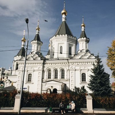 Church Architecture Architecture_collection Architectural Feature Architectural Detail Russian Church Autumn🍁🍁🍁 Ortodox Church Landscape Landscape_Collection Enjoying The View Old Buildings Old Church