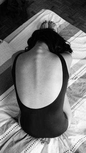 Close-up of woman in bikini