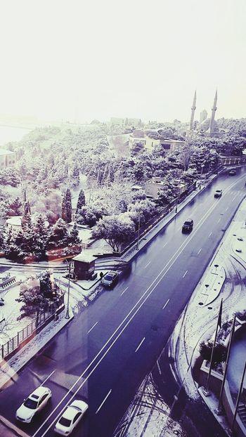 Baku Flametowers Mosque View Cityview🌇 Snow White Nadir