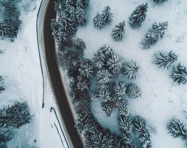 Snow Winter Cold Temperature Frozen Nature No People Plant Day White Color Covering Transportation Beauty In Nature Field Tree High Angle View Ice Land Car Outdoors Extreme Weather Blizzard