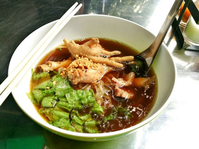 Noodle with chicken. Food And Drink Bowl Food Healthy Eating Freshness Indoors  No People Soup Close-up Ready-to-eat Day Noodle Noodle Soup Noodles Time Thai Street Food Asian Food Thailand Photos Noodlecup Noodles Lover