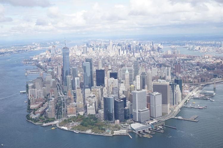 City Cityscape Helicopter New York USA Monochrome One World Trade Center Tribeca