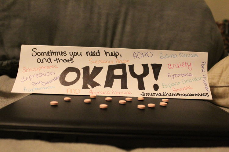 Close-up Mental Health  Mental Health Awareness Mentalhealth  No People Paper Text