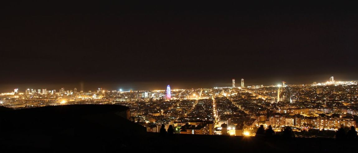 Barcelona At Night Bunkers Del Carmel Catalunya City Lights Cityscape Cityscapes Dark Illuminated Long Exposure Night Night Lights Night Photography Nightphotography Shadows Urban Skyline Viewpoint