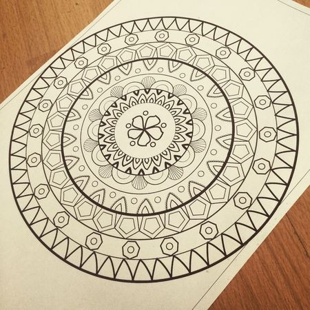 Mandala Mandala Art Love Made By Me Coreldraw Photography Blackandwhite