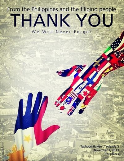 Thank you for helping the philippines