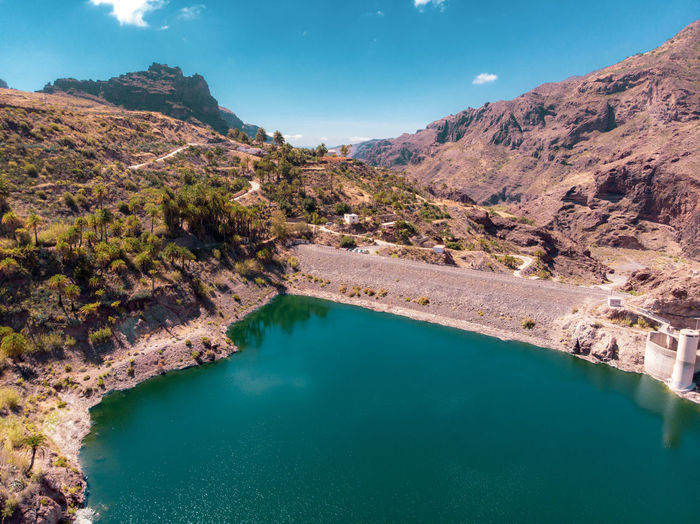 La Sorrueda, Canarias Dam Dyke  Dike Weir Embankment LeVee Nature Lake Water Waterfront Sky Blue Sky Canarias Canary Islands Forest Clouds And Sky Roads Desert Loch  Mere Freedom Nature_collection Nature Photography Naturelovers Adventure