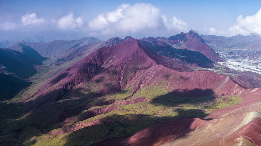 South America Peru Cloud DJI X Eyeem Nature Environment Wilderness Lanscape Rainbow Mountain Mountain Multi Colored Tree Rural Scene Sky Landscape Cloud - Sky Geology Rugged Mountain Ridge Mountain Range Natural Landmark Mountain Peak This Is Latin America
