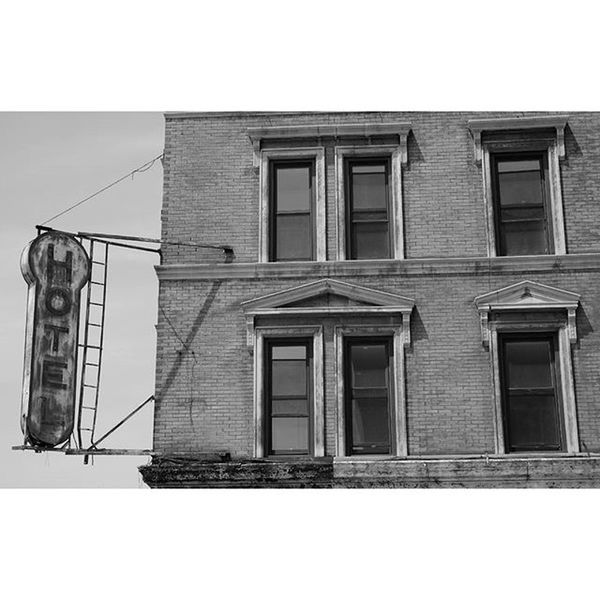 Took this photo today of a cool old Hotel Sign on Christopher street Fujifilm Xt10 monochrome blackandwhite NYC nycphotography photooftheday westvillage nycprimeshot signage instapic