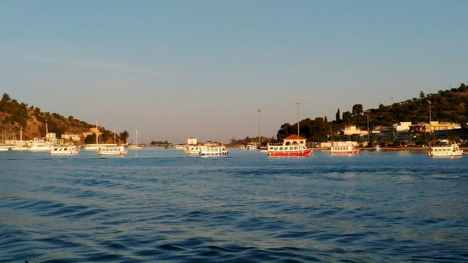 Poros island, Greece Sea Nature Boat Boats⛵️ Poros Mediterranean  Port Saronic Gulf Ships Water Greek Islands