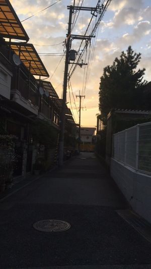 Morning Sky Fall Japan Sky No People Road Japan Photography Back Alley