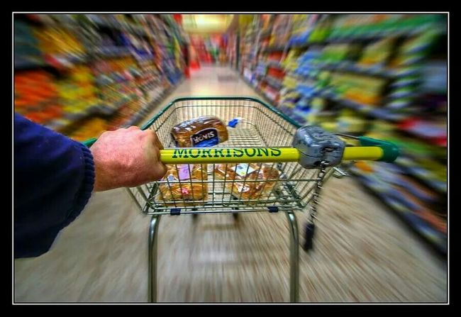 Morrisons Basket Shopping Time Morning Sainsbury Shop Shops Fast Quick Run