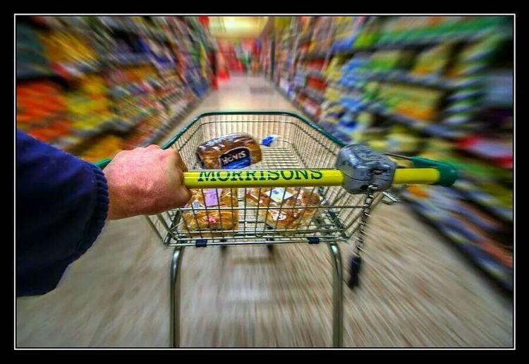 Morrisons Basket Shopping Time Morning Sainsbury Shop Shops Fast Quick Run