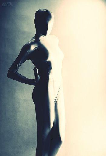 Photo by Martin Model me Catsuit Black & White Studio Noface Spb_live Shapes Lines Linda