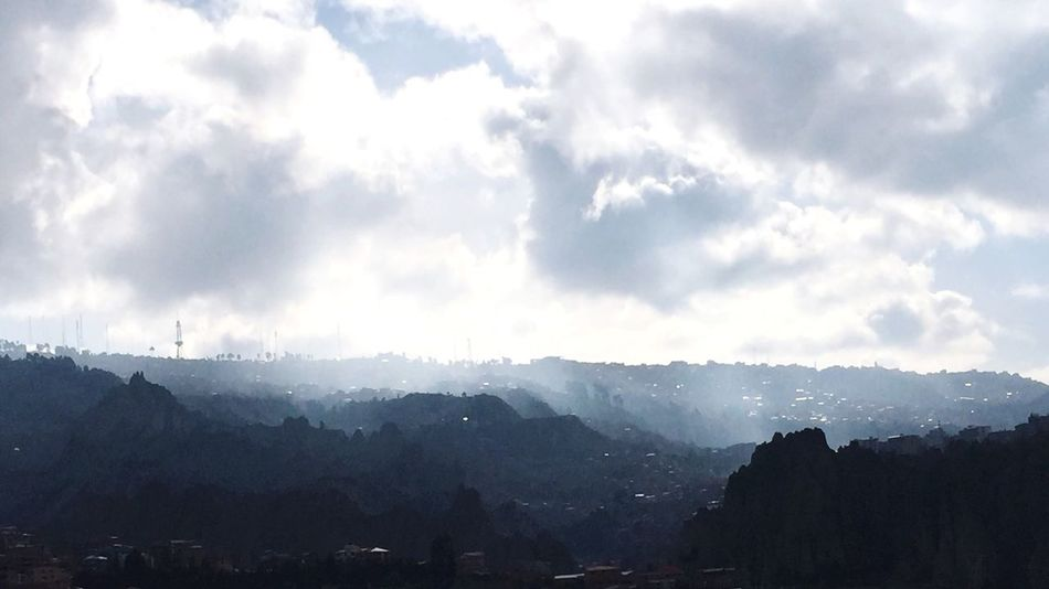 Landscape Tranquility High Angle View Cloudy La Paz, Bolivia Rolich