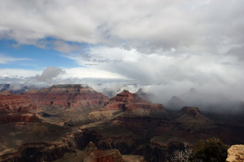 Clouds over Grand Canyon Grand Canyon Grand Canyon National Park Grand Canyon Weather Grand Canyon, South Rim Weather Weather Photography Beauty In Nature Day Nature No People Outdoors Scenics Sky Weather Change Weather Condition