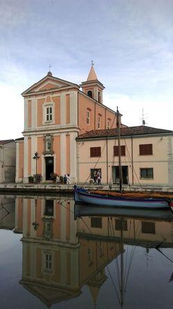 Cesenatico Italy Porto Canal Boats Portocanale Showcase June Reflection Water Sky Beautiful