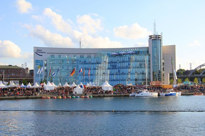 Architecture Boat Building Exterior Built Structure Cloud Cloud - Sky Communication Day Harbor Kieler Woche 2011 Mode Of Transport Moored Nautical Vessel Outdoors River Sea Sky Text Transportation Water Waterfront