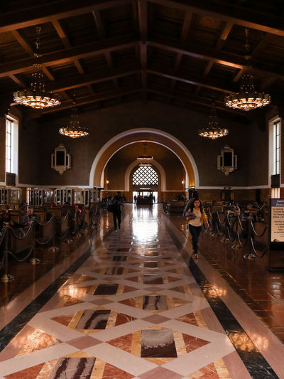 Architecture City Day Full Length Illuminated Indoors  Large Group Of People Leisure Activity Lifestyles Light Long Hallway Men People Real People Train Station Tunnel Women