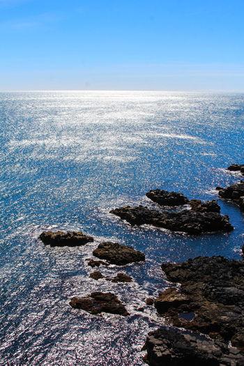 Scenic view of calm sea