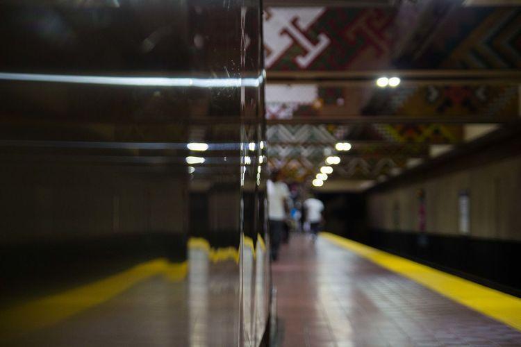 #isherratheshooter Baltimore Illuminated Indoors  Night No People Public Transportation Rail Transportation Subway Station The Way Forward Transportation